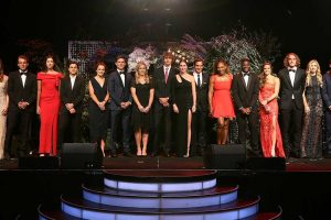 The world's top players celebrated at the traditional  New Year's Eve gala.