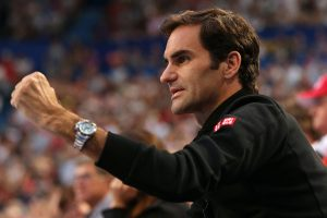 Federer provided sidelines support.