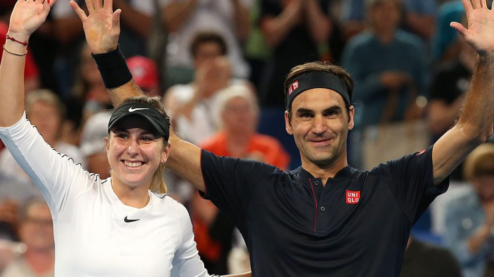 Belinda Bencic and Roger Federer claim the Hopman Cup title for Switzerland for a second straight year; Getty Images